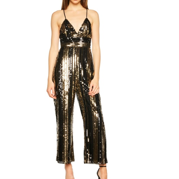 af008211132b Bardot Pants - Bardot Goldie Sequin Stripe Jumpsuit